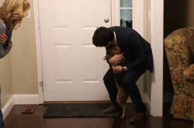 2年ぶりの再会に感情を抑えきれない犬!全身で喜びを表現する姿に思わず笑顔