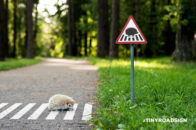 小さな市民のために作られた、小さな道路標識が可愛いと話題に