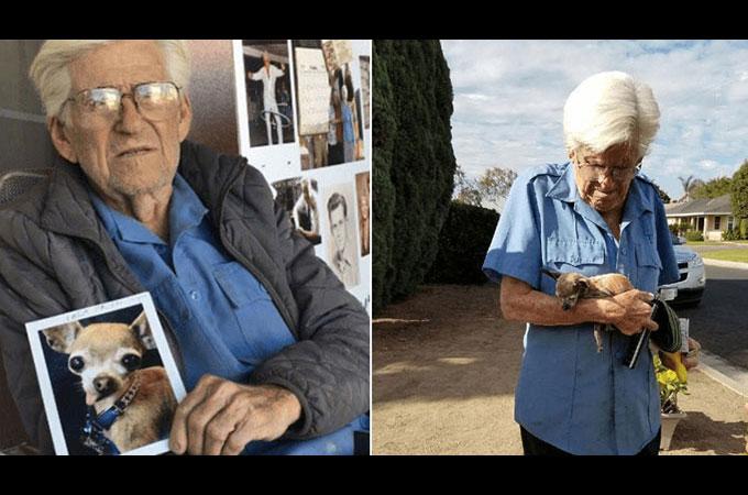 93歳のおじいさんが盗難にあい行方不明となっていた愛犬と涙の再会を果たす