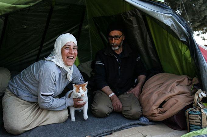 内戦で全てを失った家族を支えたのは瓦礫の中から救い出した1匹の子猫