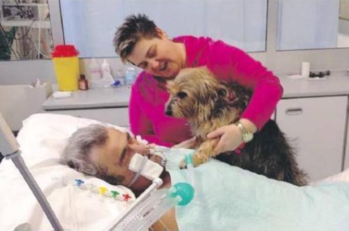 昏睡状態の飼い主との面会が許された愛犬。今まで全く反応を見せなかった飼い主に起きた奇跡とは