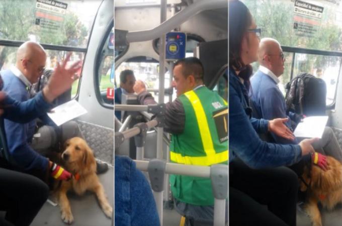 介助犬とバスに乗車した男性。運転手が「犬をバス停に置いていけ!」と言い放つと、乗車していた乗客が猛抗議!