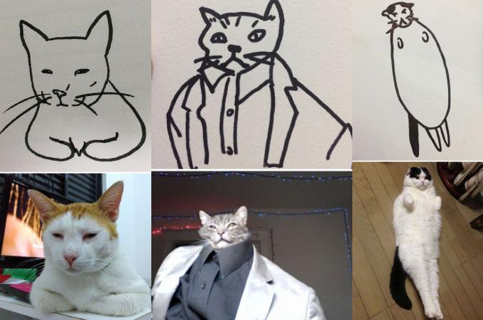 こんなイラストの猫がいるはずがない!そう思っている人必見!ありえないイラストの猫が実在した画像15枚!