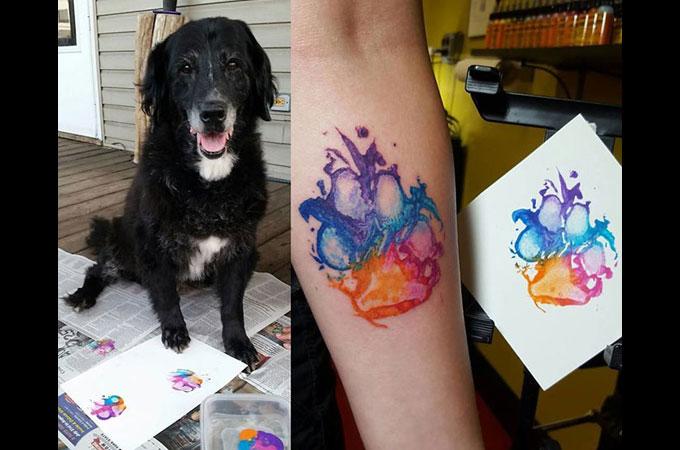 飼い主さんと愛犬との深い絆をタトゥーと言う新しい形で表現する方法が話題に