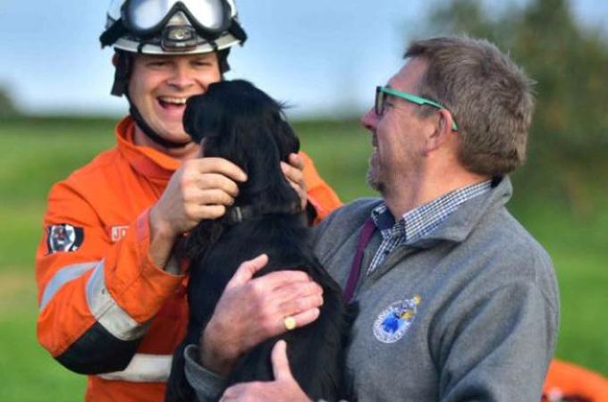 暗い井戸の底で2週間を生き延びた1匹の犬「ボビー」が救出される