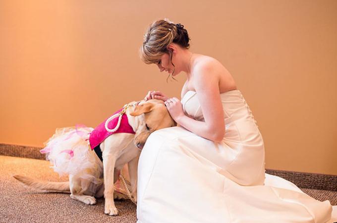 介助犬である愛犬にも結婚式に参加してほしい!飼い主さんの思いに世界中が感動