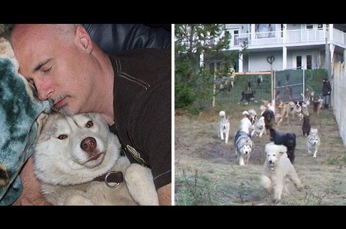 すべての犬たちに健康で楽しい生活を送らせてあげたいと45匹のシェルター犬を迎え入れた男性