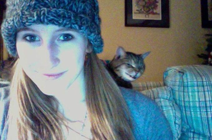悪魔のような目つきで明らかに何かをたくらんでいそうな猫たち
