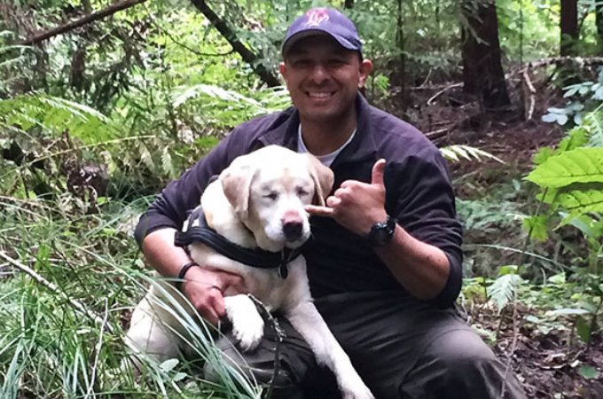 12歳の盲目の犬がある日、突然行方不明に。それから8日たち諦めてかけてたその時、奇跡的に発見される