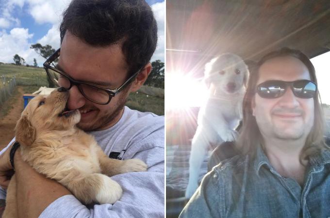初めて家族に犬を迎えいれた人々たちの笑顔の写真20枚!!