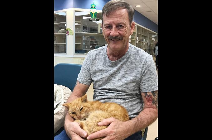 14年前のハリケーンの日に行方不明になり、死んだと思っていた猫が飼い主と奇跡の再会を果たす。